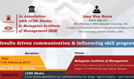 Registration Results Driven Communication & Influencing Skills Program