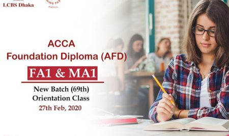 New Batch ACCA Foundation Diploma