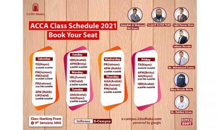 ACCA Class Schedule 2021
