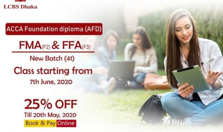 We are also glad to offer a 25% discount on the enrollment fees within 20th May 2020.