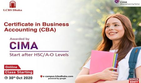 CIMA CBA Level classes are going to start from 30th October 2020